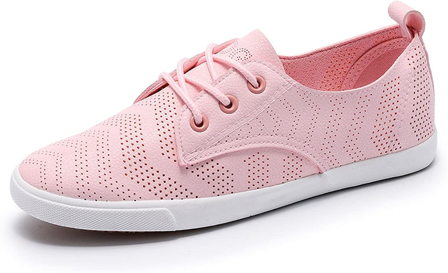 Zcaosma Women shoes with Hole Breathable Women Flat shoes Women Sneakers Casual shoes Lace-up Footwear