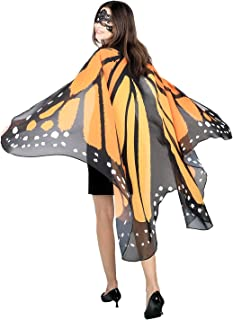 SIPU Butterfly Wings for Women, Monarch Butterfly Shawl Cape Halloween Costume