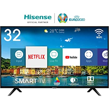 "Hisense H32BE5500 Smart TV LED HD 32"", USB Media Player, Tuner DVB-T2/S2 HEVC Main10 [Esclusiva Amazon - 2019]"