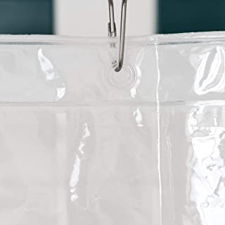 LiBa PEVA Lightweight Shower Curtain Liner Set (Pack of 2) - Mildew Resistant, No Chemical Smell - 72 x 72 Clear Plastic