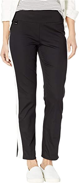 Jupiter Fabric Contrasted Combo Ankle Pants
