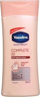 Vaseline Healthy Bright Complete 10 Body Lotion, Anti- Ageing Lotion With Vitamin B3, Aha, Pro-Retinol, 200 ml