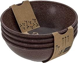 EVO Sustainable Goods 932 Salad Bowl Set, 24 oz, Dark Brown