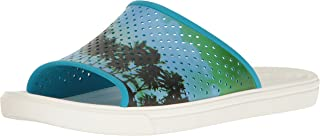 crocs Men's Citilane Roka Tropical Slide M Flat, Electric Blue/White, 8 M US