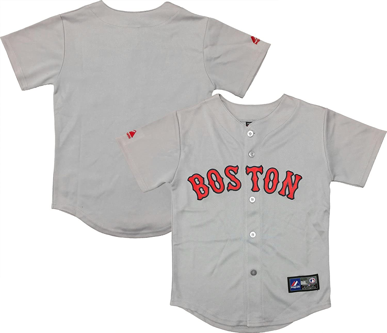 Outerstuff Boston Red Sox Wordmark Authentic Jer Youth Gray Free shipping anywhere in the nation Los Angeles Mall Road