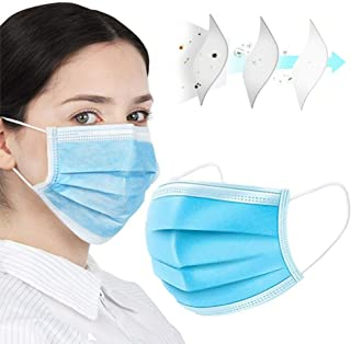 NEWMARK MengChen 50pcs Disposable Face Mask for Air Pollution,Dustproof Mouth Cover, Men Women Adult Child 3-ply Safety Mask - Fast Ship From USA