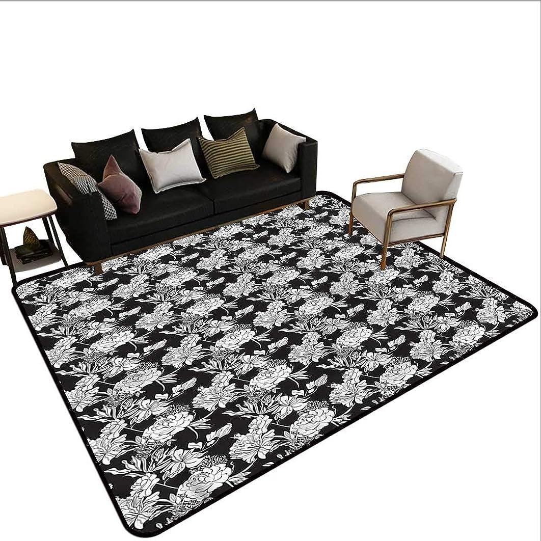Floral,Floor Mat Kitchen Long Carpet 48