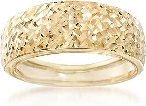 Ross-Simons Italian 14kt Yellow Gold Diamond-Cut Ring
