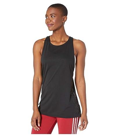 adidas Designed 2 Move Brand Tank Top (Black/Black) Women