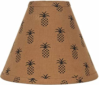 Home Collection by Raghu Pineapple Town Mocha & Black Lampshade, 12