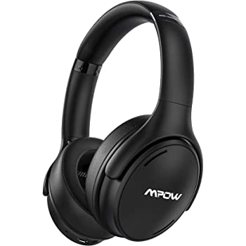 Mpow H19 IPO Active Noise Cancelling Headphones, Bluetooth 5.0 Headphones with CVC8.0 Mic, Deep Bass, Fast Charge 35H Playtime Wireless/Wired Headset for Kids, Adults, TV, Online Class, Home Office