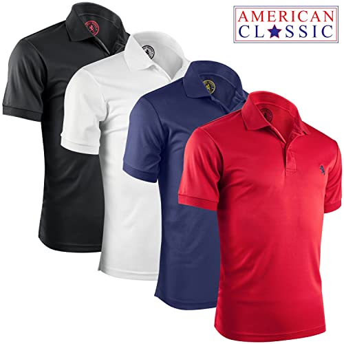 Albert Morris Mens Striped Short Sleeve Polo Shirts 4 Pack 88db6ade99