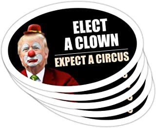 Best StickerPirate 5 PackOval Car Magnet Trump 2020 Elect A Clown Expect A Circus Dump Trump TO414 Review