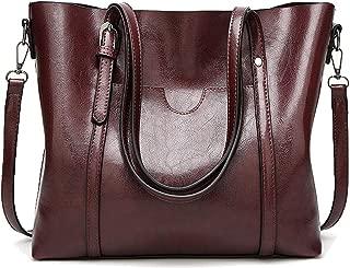 Women's Vintage Style Soft Leather Work Tote Large Shoulder Bag