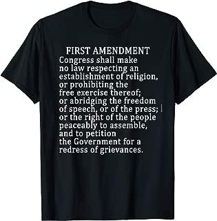 1st AMENDMENT T-SHIRT FREE PRESS Bill of Rights