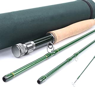 Richly Shop 3/4/5/6/7/8/9/10/12 WT Fly Rod Carbon Fiber Fast Action Fly Fishing Rod with..