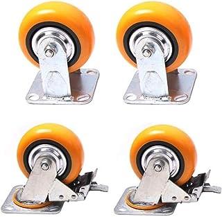 LYQQQQ 4 stks Meubelwielen Zware Polyurethaan Meubelwielen, Flatbed Truck Trolley Industriële Wiel, Vervang Accessoires Re...