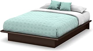South Shore Step One Platform Bed with Storage, Full 54-Inch, Chocolate