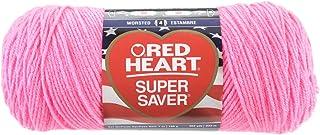 Red Heart Super Saver Yarn-Pretty 'N Pink