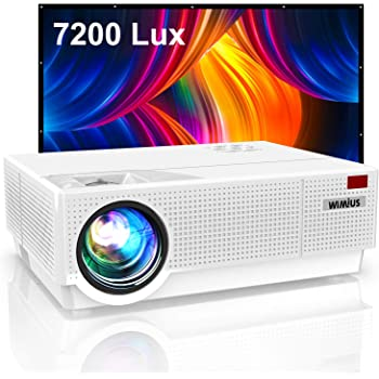 Projector, WiMiUS Upgrade P28 7200 Lux LED Projector Native 1920x1080 Video Projector Support 4K Dual 10W Speaker, 300'' Screen 4D ±50°Keystone Correction for Home Theater and Outdoor Movie