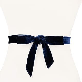 Women's Narrow Velvet Wrap Belt