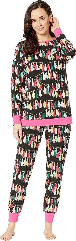 BedHead Womens Long Sleeve Crew Neck Pajama Set