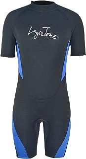 Layatone Wetsuits Shorty Men Women 3mm Neoprene Suit Surfing Scuba Diving Suit Adults One Piece Swimsuit Water Sports Suit Wet Suits Men Shorty Suit