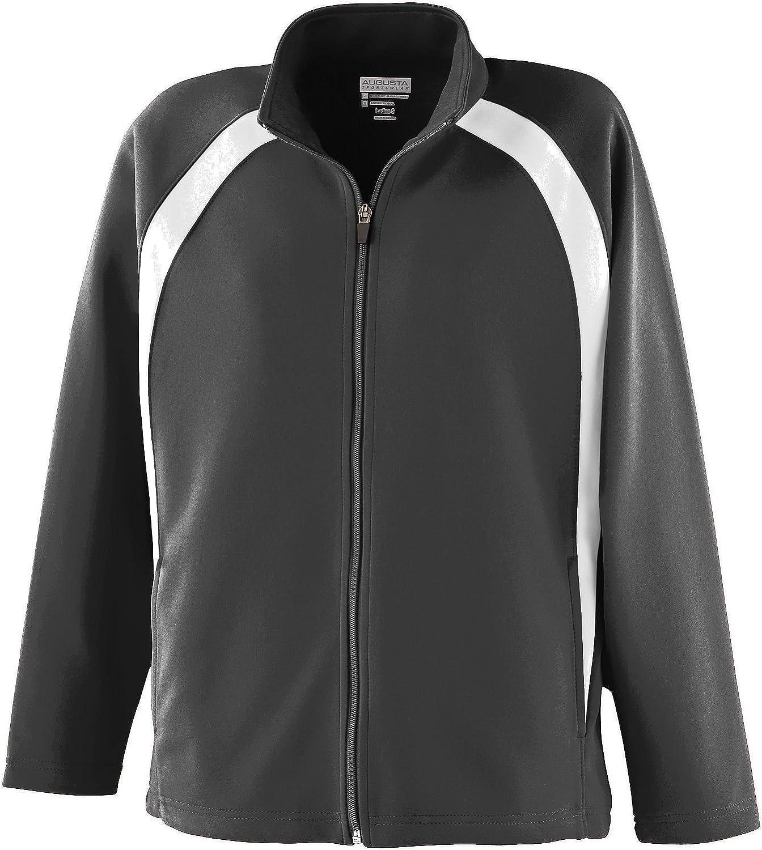 Augusta Sportswear Girls Double Knit Color Block Jacket