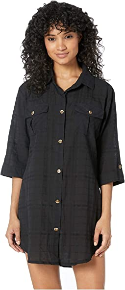 On Island Time Shirtdress Cover-Up