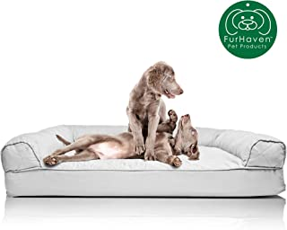Furhaven – Orthopedic Sofa-Style Traditional Living Room Couch Dog Bed –..