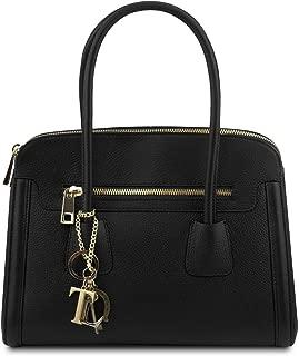 TL Keyluck Soft leather handbag Black