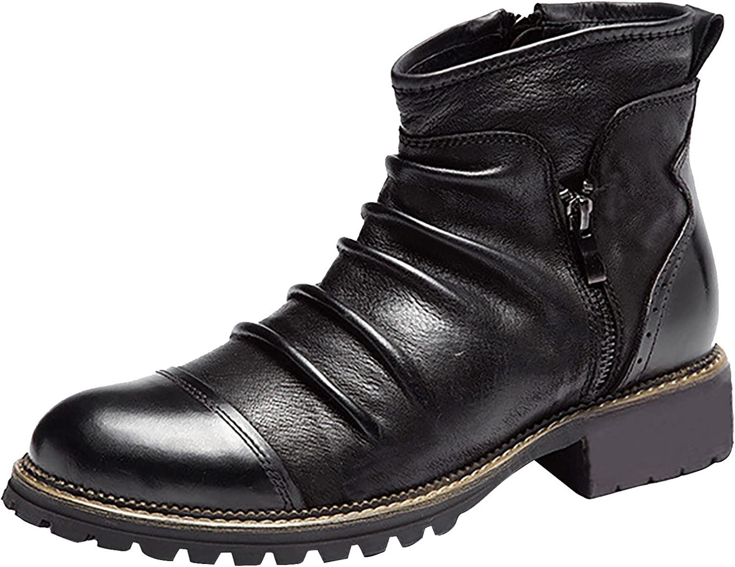 Work Boots For favorite Men Retro Casual Cowboy L Max 83% OFF Stitching Western