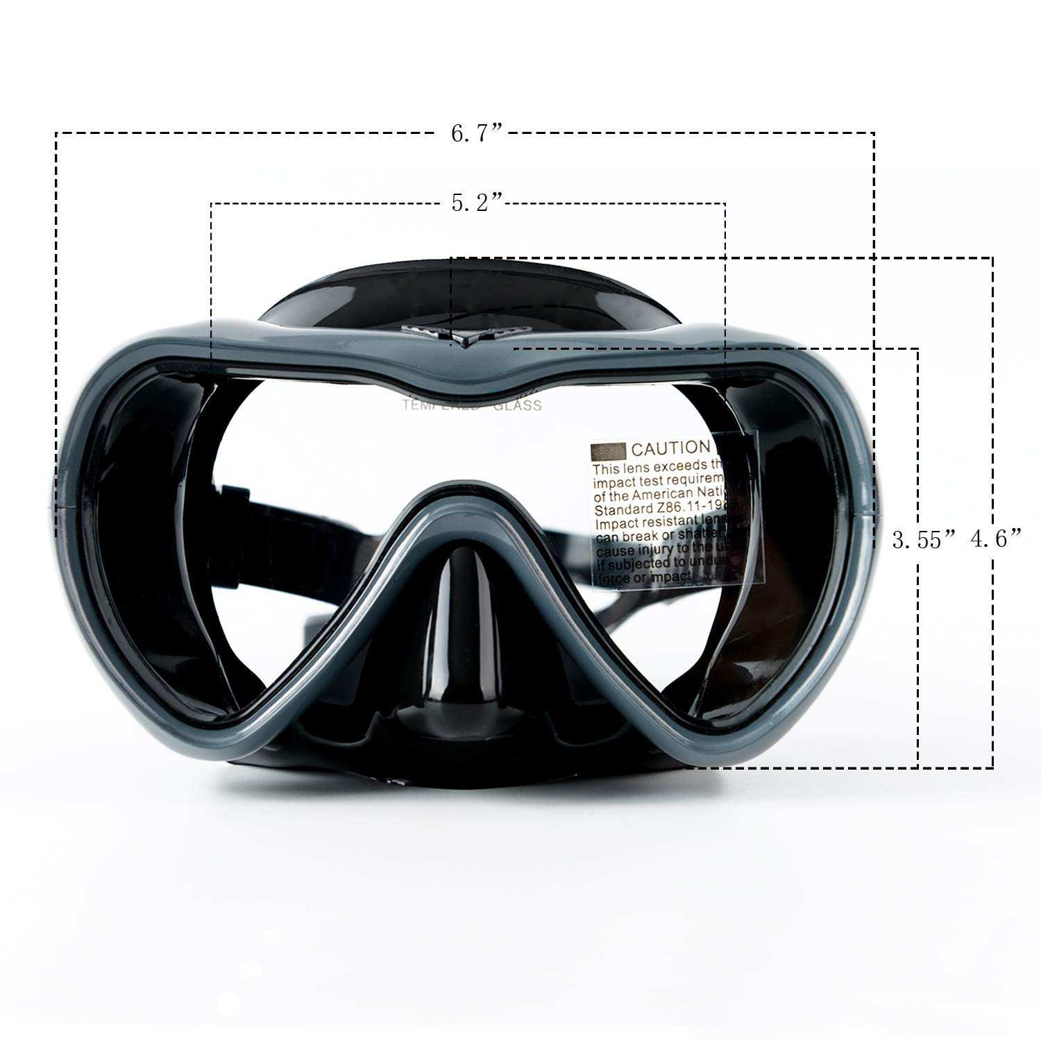 Rongbenyuan Dry Top Snorkel Set Diving Mask and Snorkel Swimming Goggles with Nose Cover 180/° Panoramic Wide View Anti-Fog No-Leak