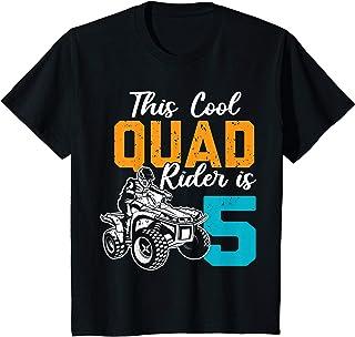 Enfant Cadeau d'anniversaire de 5 ans Quad Fan 4X4 ATV Garçons T-Shirt