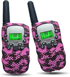 Joyfun Walkie Talkies for Kids T-388 Long Distance 2 Way with Flashlight Outdoor Camping & Hiking Gear Christmas Birthday Gifts - 1 Pair