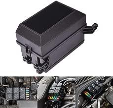 MNJ Motor 12-Slot Relay Box, 6 Relays, 6 ATC ATO Fuses Holder Block with 41pcs Metallic Pins for Automotive and Marine Engine Bay
