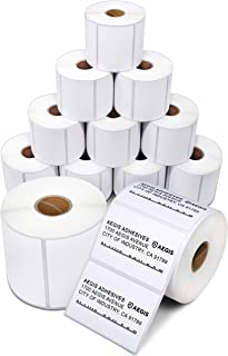 """Aegis Adhesives - 3"""" X 2"""" Direct Thermal Labels for Shipping, Postage, Perforated & Compatible with Rollo Label Printer & Zebra Desktop Printers (12 Rolls, 700/Roll)"""