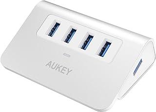 AUKEY USB Hub 3.0 Portable Aluminum 4 Port USB 3.0 Hub for Data Transfer with 3.3ft USB Cable for MacBook Air, Mac Mini, i...