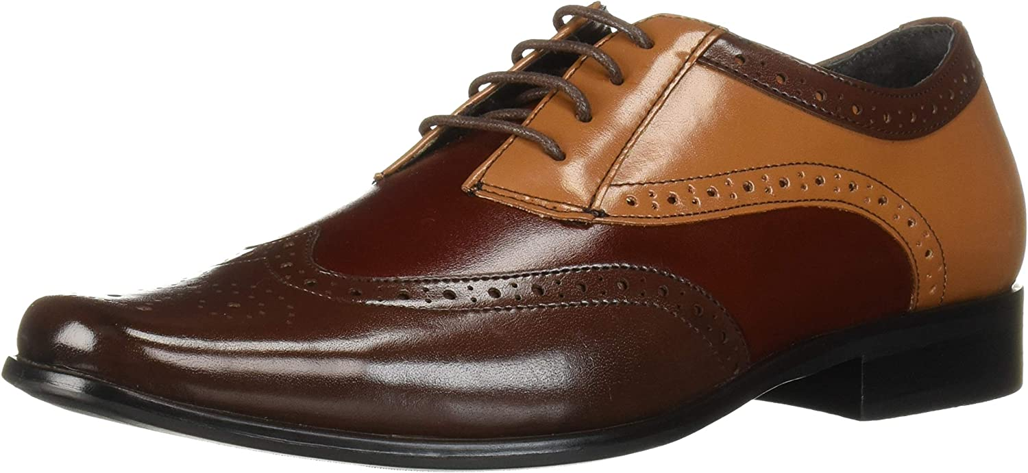 STACY ADAMS Unisex-Child Tinsley Wingtip Lace-up Oxford