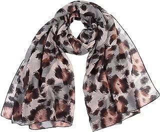 Becoler Fashion Women Leopard Print Long Soft Wrap Scarf Shawl Scarves
