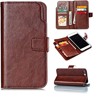 SHUANGRUIYUAN with Club Card Slots & Wallet & Photo Frame, Litchi Texture Horizontal Flick Leather Case for iPhone 7 Summation (Color : Brown)