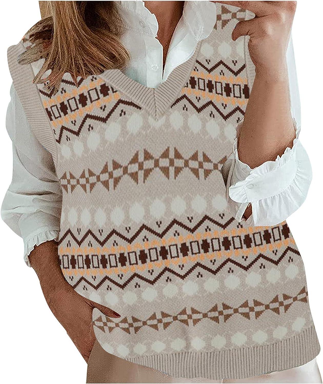 Bargain sale AutumnFall Legend Women V Neck Argyle Sweater Knit Pattern Recommendation Vest