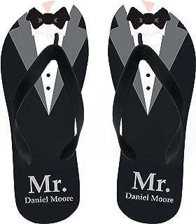 af1493bb25ac Name Groom Flip Flops Personalize Yours! Black