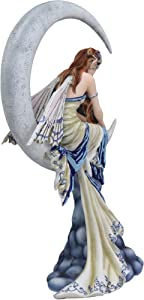 """Ebros Fantasy Celestial Crescent Lunar Moon Dream Weaver Fairy Statue 12"""" Tall by Artist Nene Thomas 'Memory' Astrology Zodiac Fairies Nymphs Pixies Themed Collectible Figurine As Home Decor Accent"""