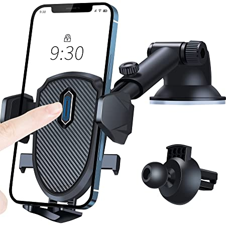 車載ホルダー スマホ車載ホルダー 360度回転 伸縮アーム 片手操作 2in1 ワンタッチ 粘着ゲル吸盤&エアコン吹き出し口式兼用 スマホスタンド 車 携帯ホルダー iphone 車載ホルダー 取り付け簡単 手帳型ケース対応 自由調節/日本語説明書付き/4-7インチ全機種対応 iPhone 12 Pro Max /12 Pro /12 /12 Mini /iPhone 11 Pro Max /11 Pro / XS Max / XR / X / 8 Plus/ 8 / 7 Plus / 7 / 6S /SE2 または SAMSUNG Galaxy S10 / S10 Plus / S9 / S9 Plus / Note 10 / Note 10 Plus / Sony / Huawei P30 / P30 PRO / P20 / P20 PRO / Google Pixel など