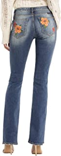 Women's Flower Embroidered Slim Boot Jeans