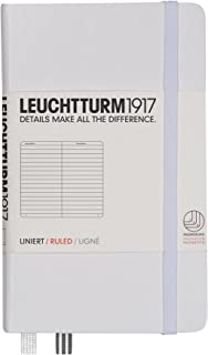 Leuchtturm1917 Pocket Size A6 Hardcover Notebook, Lined Pages, White
