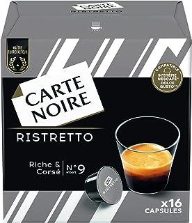 Carte Noire Café Espresso Ristretto 100% Arabica, Capsules Compatibles Dolce Gusto, 6 Paquets de 16 capsules (96 Capsules)