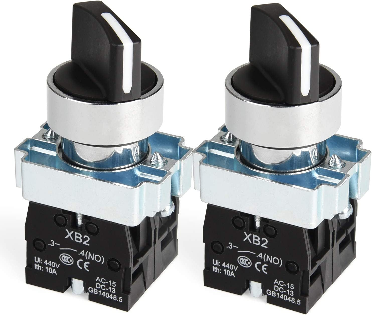Momentary Popular products Selector Switch Max 41% OFF 22mm 2NO XB2-20X APIELE 2 of 3 Pack 33