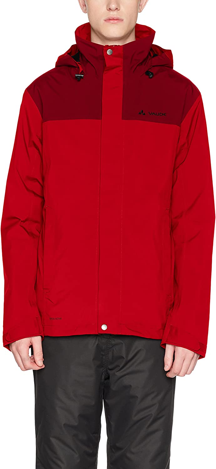 (Large, Indian Red)  Vaude Kintail 3in1 Jacket III Men's Double Jacket, Men, Kintail 3in1 Jacket III
